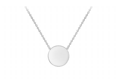 9ct White / Yellow / Red Gold Necklace with Plain Disc Pendant              7640